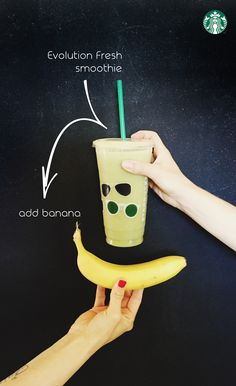 When you add a banana to your Evolution Fresh smoothie, you get a lot more smoothie. Just ask your Starbucks barista to add it in!