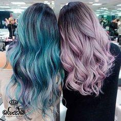 Cabelos coloridos <3 Inspiração Sweet! #sweet #sweethair #sweetmultinivel #sweetprofessional #sweethairprofessional #hair #beauty