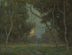 Early Moon by Granville Redmond (American, 1871-1935)