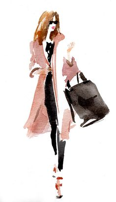 Fashion Design Sketches 588986457495197141 - Sylvia Baldeva Source by Painting People, Figure Painting, Figure Drawing, Sketches Of People, Art Sketches, Watercolor Portraits, Watercolour Painting, Watercolours, Mode Poster