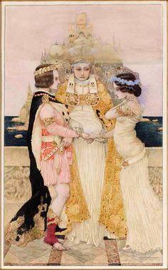 Gustav-Adolf Mossa (French, 1883-1971). L'union or Le mariage du Prince, 1913