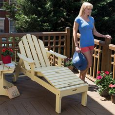 Adirondack Chaise Lounge Woodworking Plan by Woodcraft Magazine