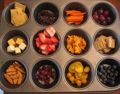 muffin tin meals. I have done this for my son a few times and he loves it.