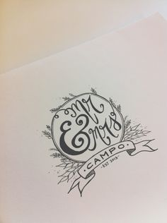 Inspiration: handmade wedding logo