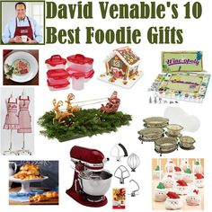 QVC's David Venable presents the best gifts for the Foodie in your life! A must see before the Holidays!