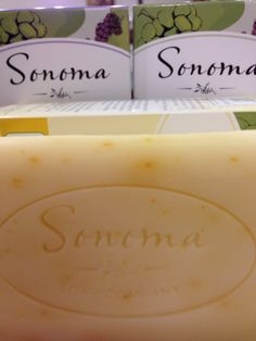 Sonoma 100% natural soaps at #aransas 100% Natural Skin Care #friscomercantile Frisco, Tx or www.seasaltscrublady.com