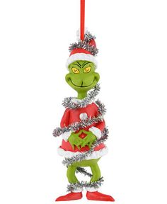 Department 56 Grinch Village Grinch in Tinsel Ornament - Christmas Ornaments - Holiday Lane - Macy's