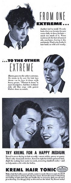Gentlemen, the right hair tonic will make you a hit with the ladies!