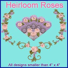 A Heirloom Roses Pack design (X2530) from www.Emblibrary.com