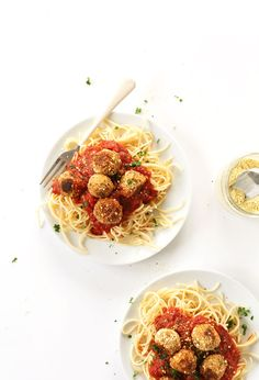 EASY and tasty vegan meatballs. Just 10 ingredients and PACKED with protein since they can be made with either tempeh or chick peas. Once you have the seasonings on your shelf, these likely won't even require a trip to the store to make.