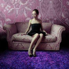 Tappeto Moderno 170 x 230cm  Viola Shaggy a pelo alto P15892