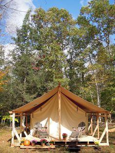 Tent platform for a Colorado Yurt Company tent built by Erik Block Design-Build, Lyme, CT