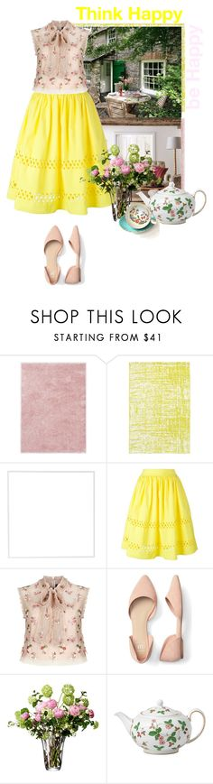 """""""yellow"""" by laura1994 ❤ liked on Polyvore featuring Ted Baker, Dash & Albert, Menu, Alice + Olivia, Needle & Thread, LSA International, Wedgwood and Aynsley"""