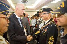 Gov. Scott Honors Borinqueneer Veterans With Governor's Veterans Service Award