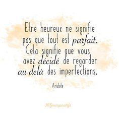 Cela faisait longtemps que je navais plus posté de citation. Celle-ci fait particulièrement sens pour moi  . . #365jourspositifs #citation #aristote #bonheur #happiness #recherche #imperfections #goodvibes #penseepositive