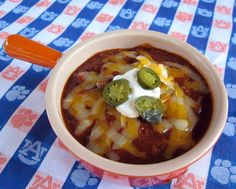 Game Day Chili Recipe from Plain Chicken
