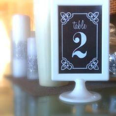 DIY wedding table numbers for Ikea Tolsby frames