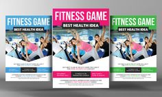 Health, Sports, Fitness Flyer  by Business Templates on @creativework247