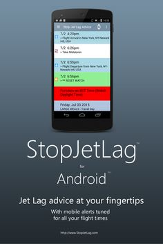 New in StopJetLag 3.0 for Android: Refined App Navigation - Enhanced flight visibility for departures and arrivals - Refined jet lag advice notifications - Expanded Android device support