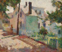 Provincetown Street Scene by Henry Hensche (1899-1992)