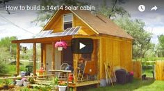 This is a A-frame Cabin Plans set by LaMar Alexander of Simple Solar Homesteading. Great if you're looking to build a simple tiny A-frame cabin of your own on your land! A Frame Cabin Plans, Cabin House Plans, Small House Plans, Ideas De Cabina, Tiny House Family, Patio Grande, Small Log Cabin, Small Cabins, Rural Studio