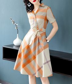 Lovely Dresses, Stylish Dresses, Simple Dresses, Casual Dresses, Modesty Fashion, Women's Fashion Dresses, Dress Neck Designs, Blouse Designs, Jw Moda