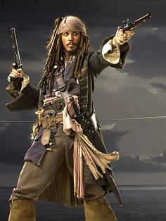 Johnny Depp as Captain Jack Sparrow in The Pirates of the Caribbean. Pirate Art, Pirate Life, Captain Jack Sparrow, Jack Sparrow Costume, Tori Tori, Here's Johnny, Johny Depp, The Lone Ranger, Pirates Of The Caribbean