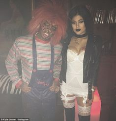 Are they or aren't they? Kylie Jenner isn't exactly denying her rumoured new relationship with rapper Tyga as they attended Adam Lambert's Halloween party at Bootsy Bellows Nightclub in Hollywood together on Friday