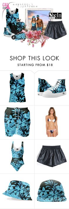 """""""Z and She and Print All Over Me Winter Beach Party"""" by wackyworkshop ❤ liked on Polyvore featuring Aila Blue, women's clothing, women, female, woman, misses, juniors and Sheinside"""