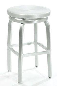 Amazon.com - Melanie Swivel Counter Stool, SWIVEL, BRUSHED ALUMINM - Stainless Steel Bar Stools