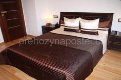 Tmavohnědý luxusní přehoz přes postel