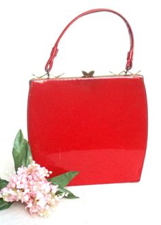 Vintage Red Patent Purse 50s/60s by ShopGlammasAttic on Etsy, $15.00
