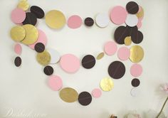 Items similar to Gold Pink Purple White Party Garland Hens Party Decoration, Wall Decor, Paper Garland, Girls Birthday Decor, Baby Room Decoration on Etsy Hen Party Decorations, Girl Birthday Decorations, Gold Paper, White Paper, Baby Room Decor, Wall Decor, Golden Circle, Party Garland, Pink Purple