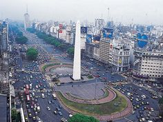 Buenos Aires (Argentina)....I crossed this street everyday to and from school...2001
