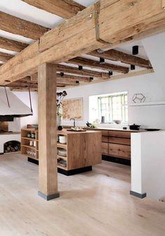 Home Decor Kitchen, Rustic Kitchen, Kitchen Interior, Wooden Kitchen, Kitchen Designs, Kitchen Tips, Kitchen Furniture, Wood Furniture, Kitchen Ideas