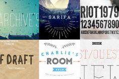 Six Fonts Bundle by mynameisyanick on Creative Market