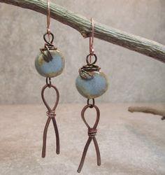 Love My Art Jewelry: Tutotial~Ceramic/Copper Earrings...