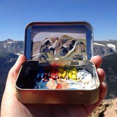 266 отметок «Нравится», 10 комментариев — Heidi Annalise (@heidi.annalise.art) в Instagram: «More fun on Trail Ridge Road!  Wanna make your own Altoids paint tin? I wrote a little blog post…»