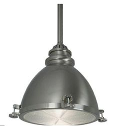 If you're looking to create a nautical theme, a brushed nickel pendant light like this will help you pull it off.