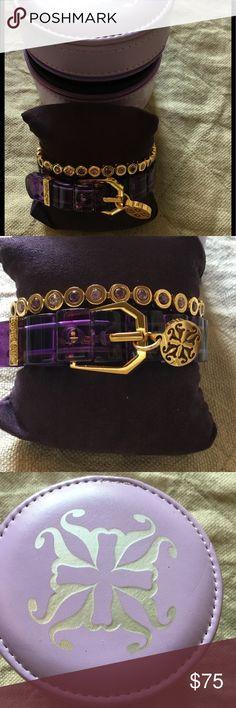 New! Rustic Cuff bracelet set with jewelry box New!!! Rustic Cuff bracelet set with darling zipper jewelry case. Brand new, never worn! Rustic Cuff Jewelry Bracelets