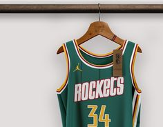 Best Nba Jerseys, Nba Uniforms, Cool Swords, Basketball Design, Uniform Design, Sports Brands, Houston Rockets, Baseball Players, Asian Men