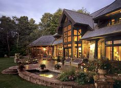 Picture of Ridge house number 70177 from Lindal Cedar Homes: worldwide manufacturer of post and beam homes, solid cedar homes, custom log homes, sunrooms and room additions. Build Your Dream Home, My Dream Home, Dream Homes, Cabin Homes, Log Homes, Custom Home Designs, Custom Homes, Style At Home, Ottawa