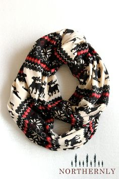 Nordic Scarf, Sweater Knit Infinity Scarf.