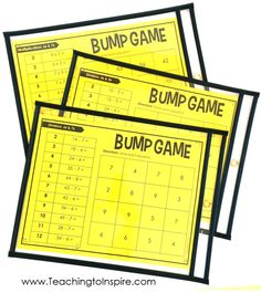 Math games 160159330483667501 - FREE math partner games for multiplication and division facts. These partner games are super low-prep and engaging. They work great for math centers, math partner games, and even early finishers. Source by zimnealey Math Multiplication Games, 4th Grade Math Games, Fourth Grade Math, Fun Math Games, Math Fractions, Free Games, Math Division, Multiplication And Division, Division Activities