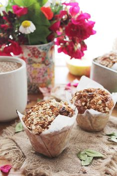 apple chia oat muffins