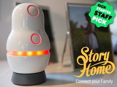 The StoryHome Device is built for your family to record, play and keep your audio stories. It's easy for grandparents and kids.