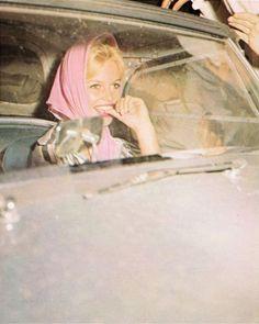 Brigitte Bardot during the filming of Vie Privee in 1961.