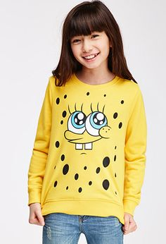 SpongeBob x Mina Kwon Close-Up Graphic Sweatshirt (Kids) | FOREVER21 girls - for just $17.90