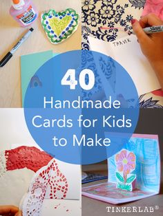 Homemade cards for kids to make teacher gifts детские поделк Simple Birthday Cards, Homemade Birthday Cards, Kids Birthday Cards, Diy Birthday, Happy Birthday, Thank You Cards From Kids, Kids Cards, Craft Cards, Crafts For Kids To Make