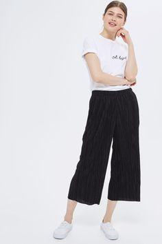 PETITE Plisse Awkward Trousers